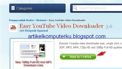 download mp3 youtube firefox add on cara download video youtube ke format flv mp3 mp4 3gp