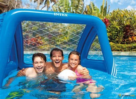 Sofa Angin Soccer Pompa Tangan 12quot Bestway Berkualitas detil produk gawang bola air intex goals water soccer polo 58507