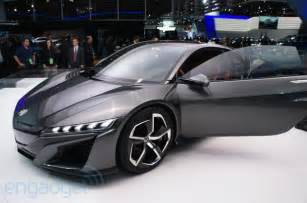 acura unveils updated nsx concept has one v6 and three