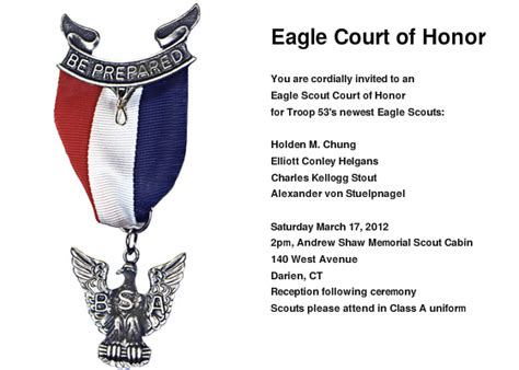 eagle scout invitation template eagle court of honor invitations cards by pingg
