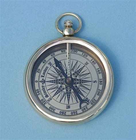stanley open faced pocket style compass can