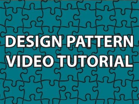 Design Pattern C Video Tutorials | design patterns video tutorial youtube