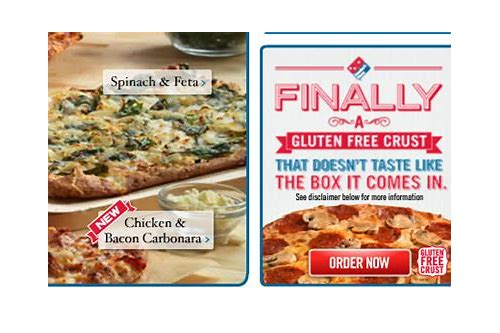 domino's gluten free pizza coupons