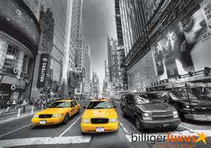 Wall mural wallpaper taxi yellow cap new york car black