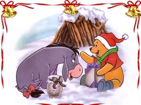 winnie the pooh and friends at christmas day