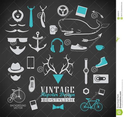 imagenes hipster retro set of hipster vintage retro chalk label and icon royalty
