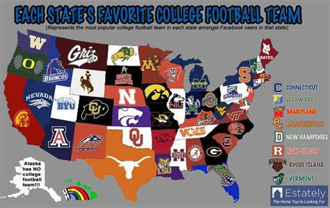 map us football teams this is a map of the united states it shows each states