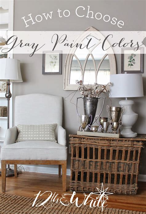 gray paint colors 12th and white how to choose gray paint colors