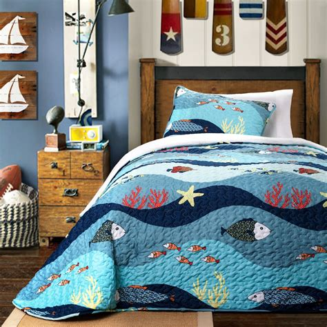 ocean themed comforter sea themed bedding sets meridian waters themed patchwork