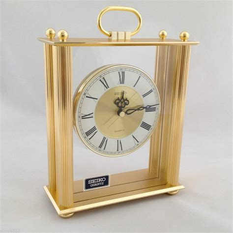 Cool Desk Clock by Quartz Desk Clock From Seiko With Elegant Gold Framed