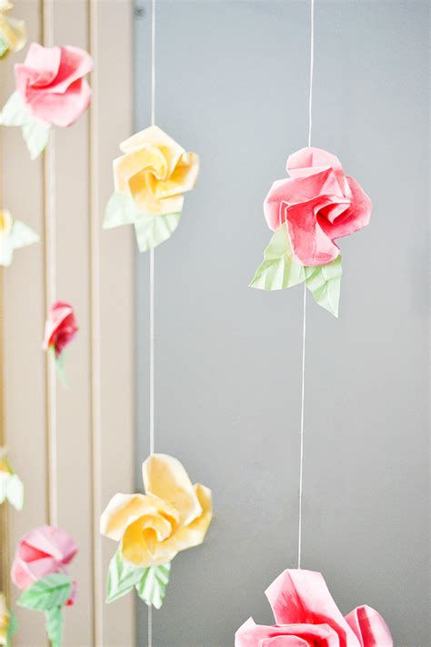 paper flower curtain 21 diy flower decoration ideas the craftables