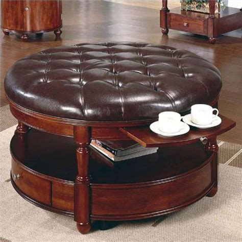 modern leather tufted ottoman coffee table great furniture 39 modern coffee tables with storage table decorating ideas