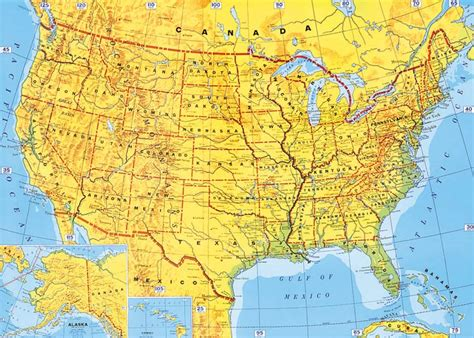 map on america maps of usa