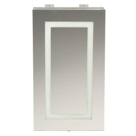 medicine cabinets with lights glacier bay sp4627a medicine cabinet w led lighted mirror