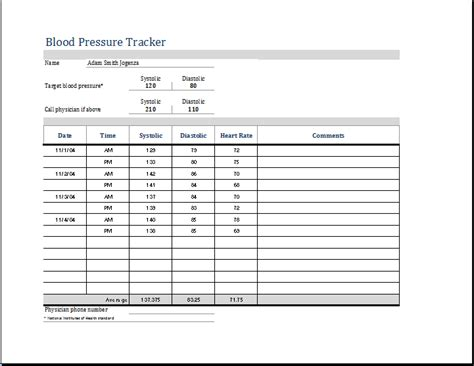 excel blood pressure template madrat co
