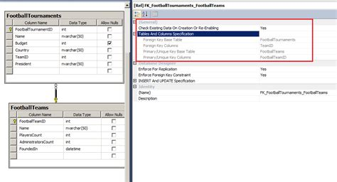 sql create table with foreign key sql server create two tables with primary and foreign