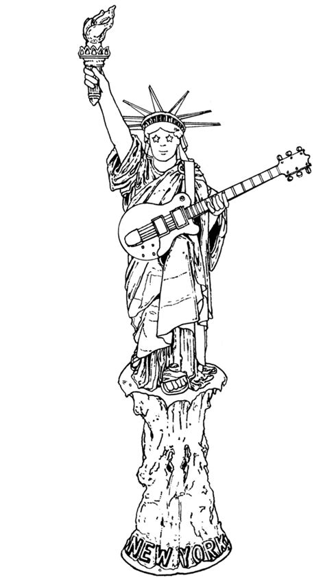 statue of liberty drawing outline cliparts co