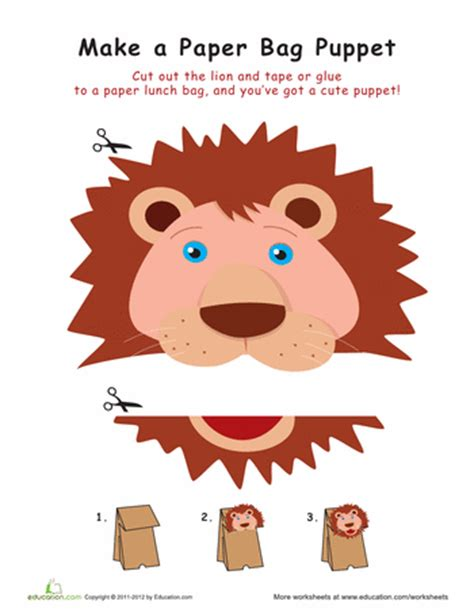 How To Make A Paper Bag Puppet Of A Person - worksheets paper bag puppet cub scouts oh