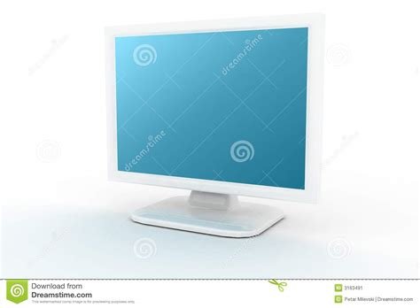 Imac L Shade by White Monitor With Blue Shade Stock Image Image 3163491