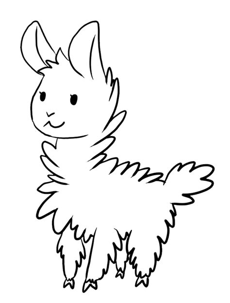 llama coloring pages printable sketch coloring page