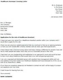 Healthcare Cover Letter Template by Health Care Assistant Cover Letter Clipartsgram