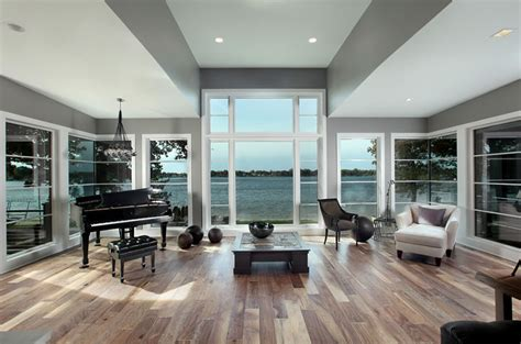 music room contemporary home office grand rapids modern lake home scott christopher homes