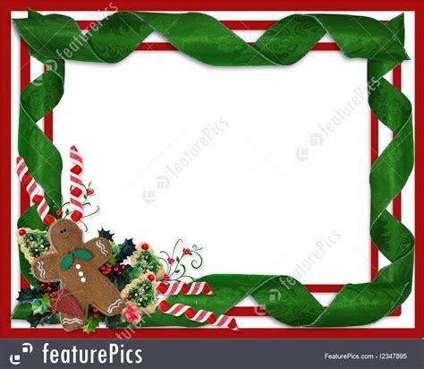 templates christmas border ribbons and treats stock
