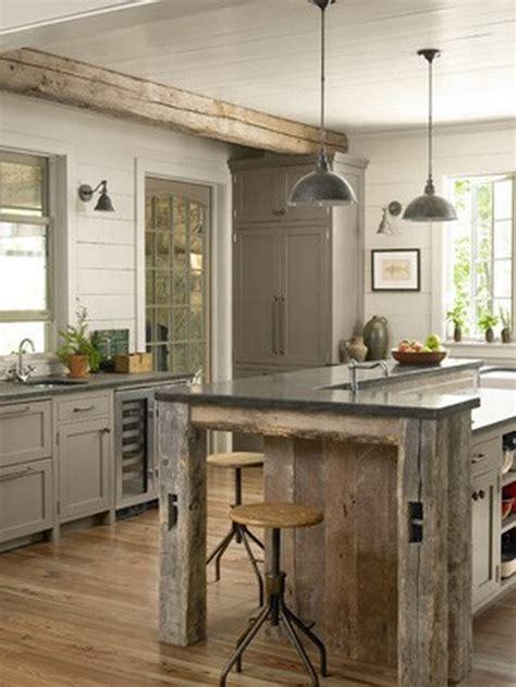 Salvaged Wood Kitchen Island reclaimed wood