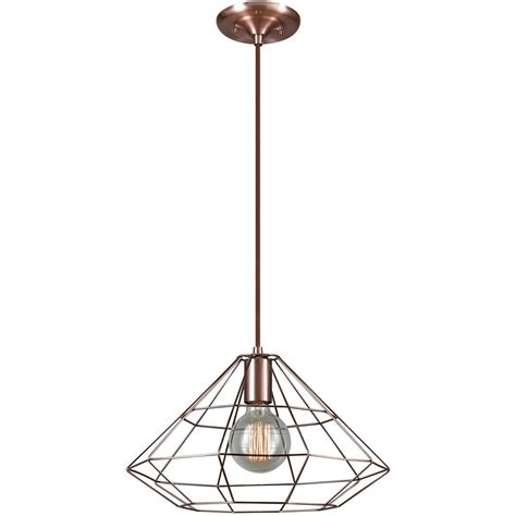 How To Wire Pendant Lights Globe Electric Mahek 1 Light Copper Wire Cage Pendant 65218 The Home Depot