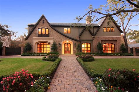 European House Plans One Story english style new build in houston tx homes of the rich