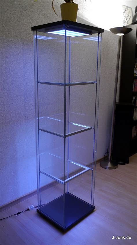 Beleuchtung Vitrine by Ikea Detolf Mit Leds Wireless Ultimate Version J Junk