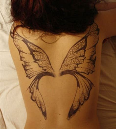 54 Fairy Wings Tattoos Ideas Back Wing Tattoos Designs