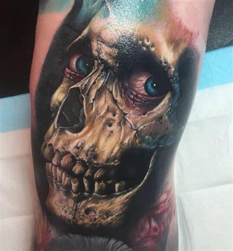 evil dead skull tattoo inkstylemag