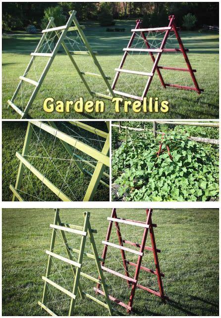 free plans to build this diy trellis clothesline save diy garden trellis free plans and tutorial handy today