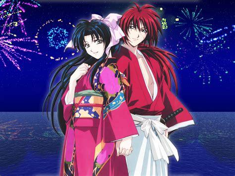 Kaos Samurai X 46 Kaoru Kamiya rurouni kenshin wallpaper kenshin water minitokyo