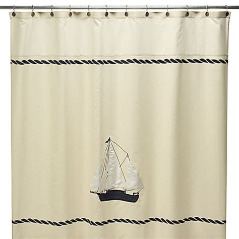 sailboat shower curtain sailboat 72 quot x 72 quot fabric shower curtain bed bath beyond