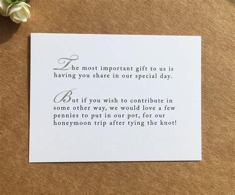 wedding poem card inserts wedding invitations money