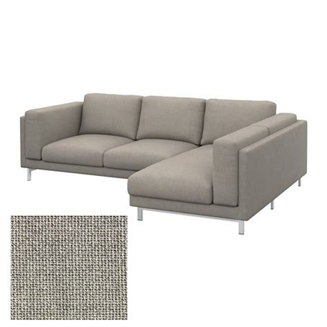 grey loveseat cover ikea nockeby slipcover loveseat w chaise right cover teno