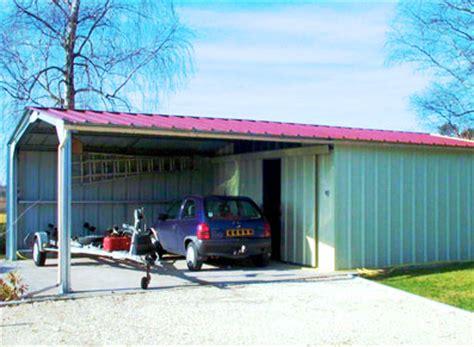 Double Garage Plans le hangar m 233 tallique la solution id 233 ale pour des usages