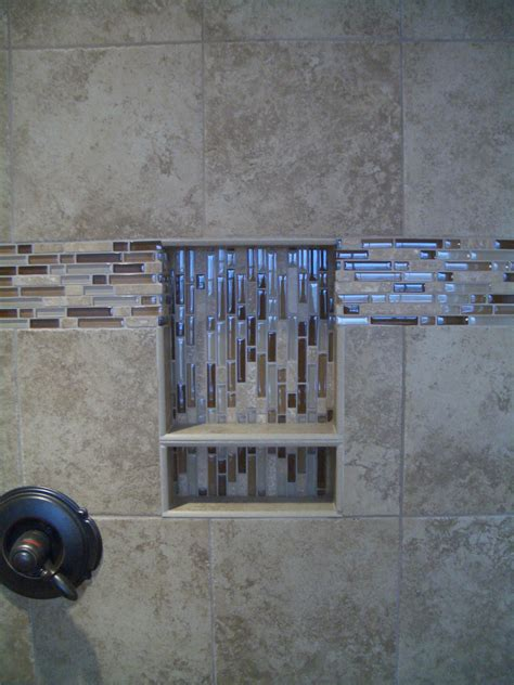 bathroom marble tile design idea with glass shelves tiles for porcelain niche with shelf and glass travertine liner