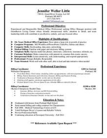 Duties Of Biller by Billing Supervisor Resume Sle Http Resumesdesign Billing Supervisor
