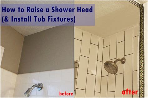 install shower head in bathtub how to raise and install tub shower fixtures