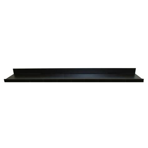 Black On The Shelf by 72 In W X 4 5 In D X 3 5 In H Black Mdf Large Picture Ledge Floating Wall Shelf 9084684 The