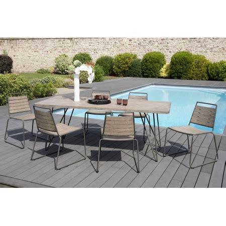 Table Bois Pied Metal 1223 by Salon De Jardin N 176 300 Comprenant 1 Table 224 Manger Pieds