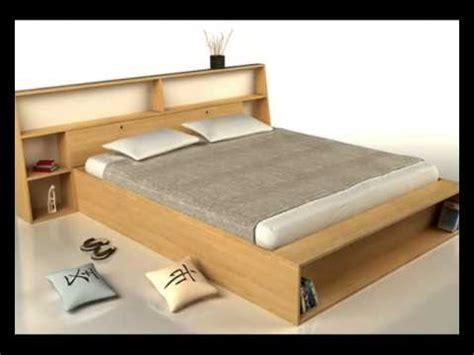 lit design bois lit en bois massif lit futon