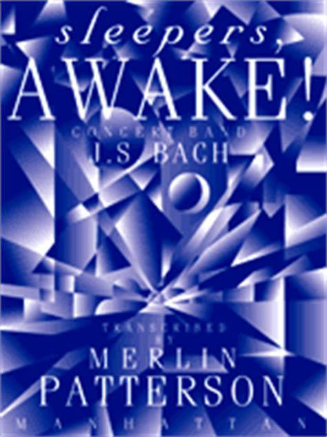 Sleepers Awake by Sleepers Awake By J S Bach Trans By Merlin Patterson