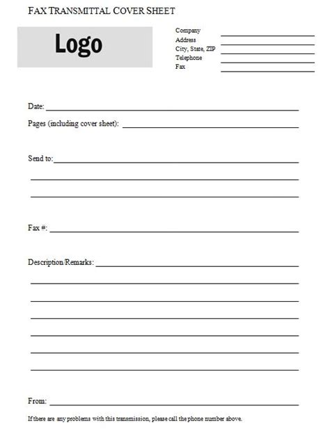transmittal form template