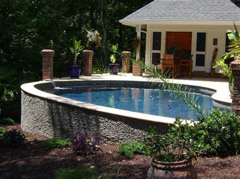 backyard website triyae com above ground pool on a sloped backyard