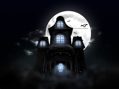 scary haunted house scary halloween 2012 hd wallpapers pumpkins witches spider web bats ghosts