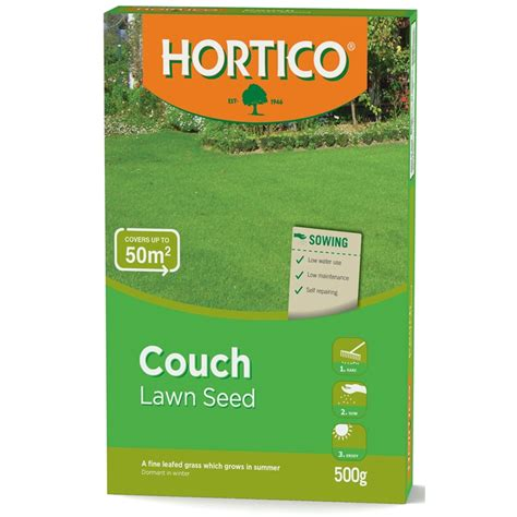 couch grass seeds hortico 500g couch lawn seed bunnings warehouse